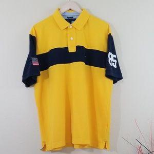 "Vintage Tommy Hilfiger Men's Yellow ""85' Shirt"